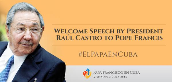 Speech Raul to Pope